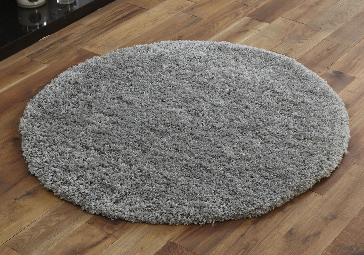 Round Rug Soft Large 133cm Silver Grey